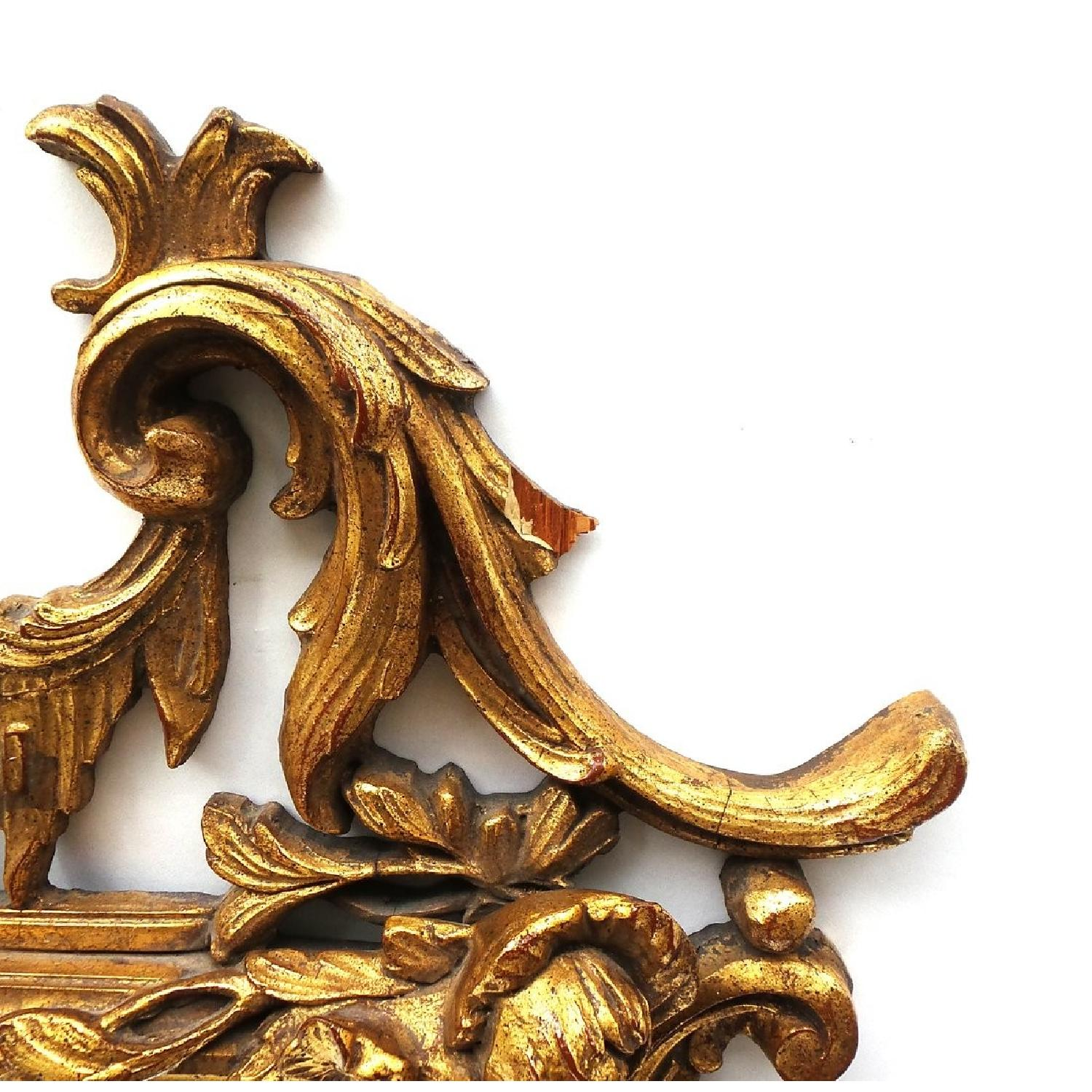 Hand Carved Gilt Wood Mirror - image-2
