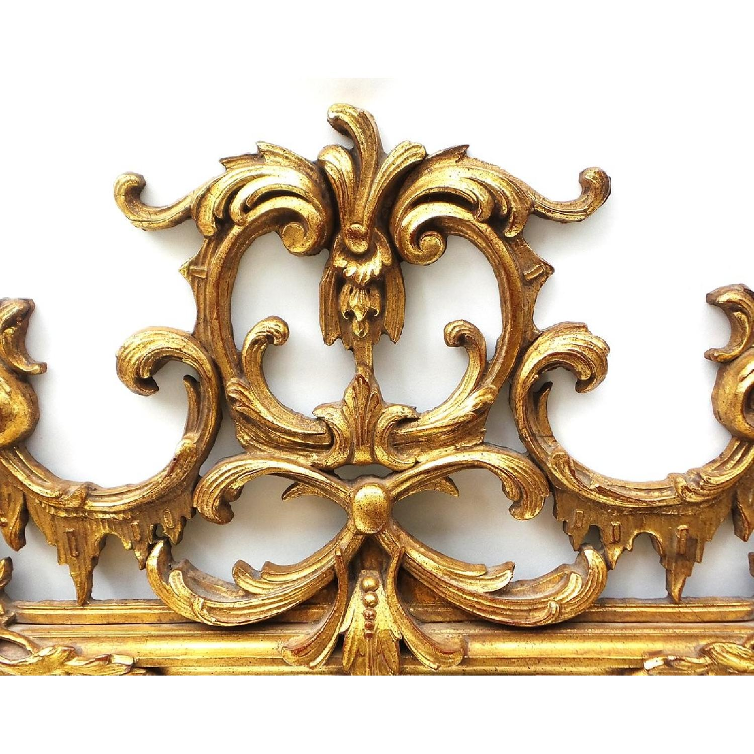 Hand Carved Gilt Wood Mirror - image-4
