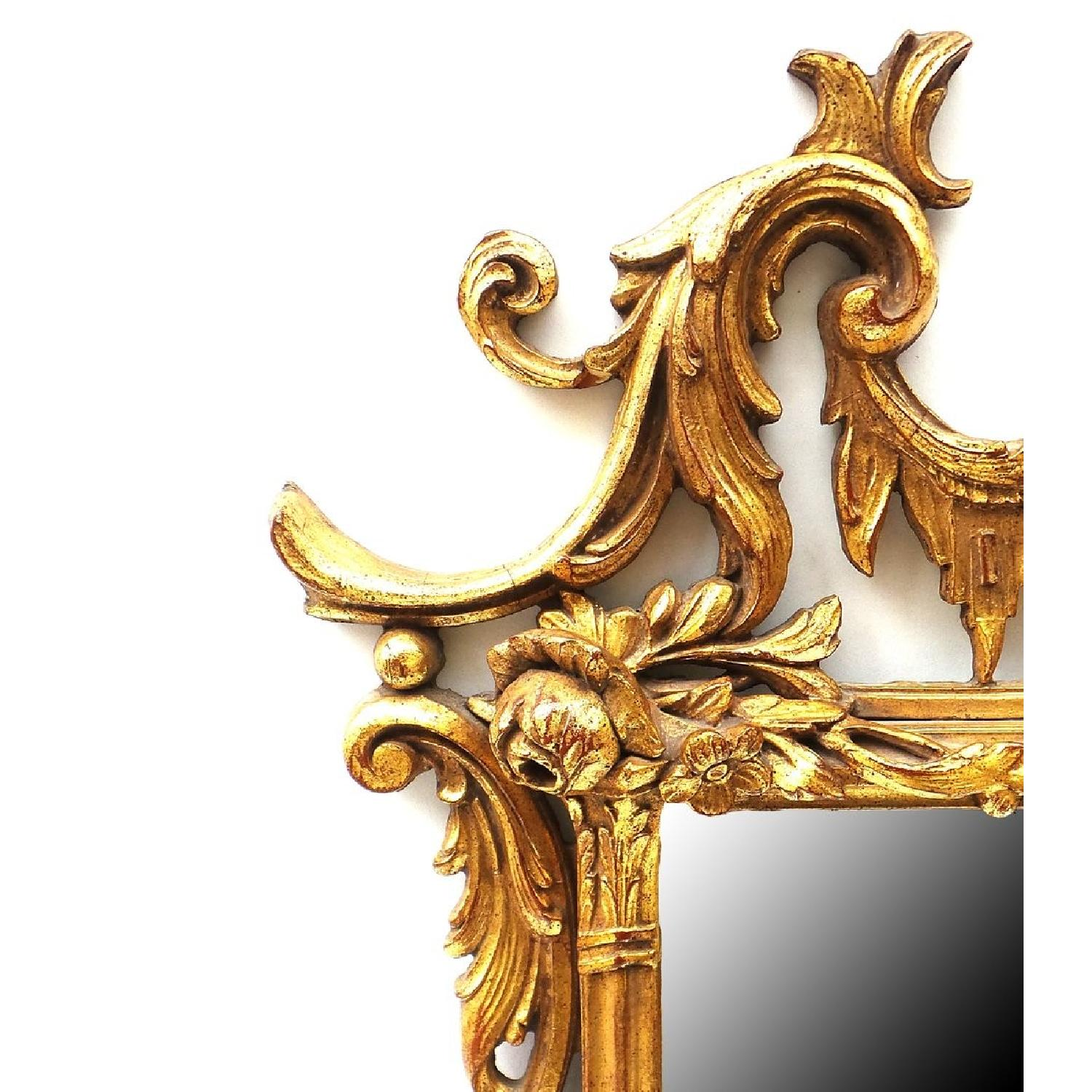 Hand Carved Gilt Wood Mirror - image-5