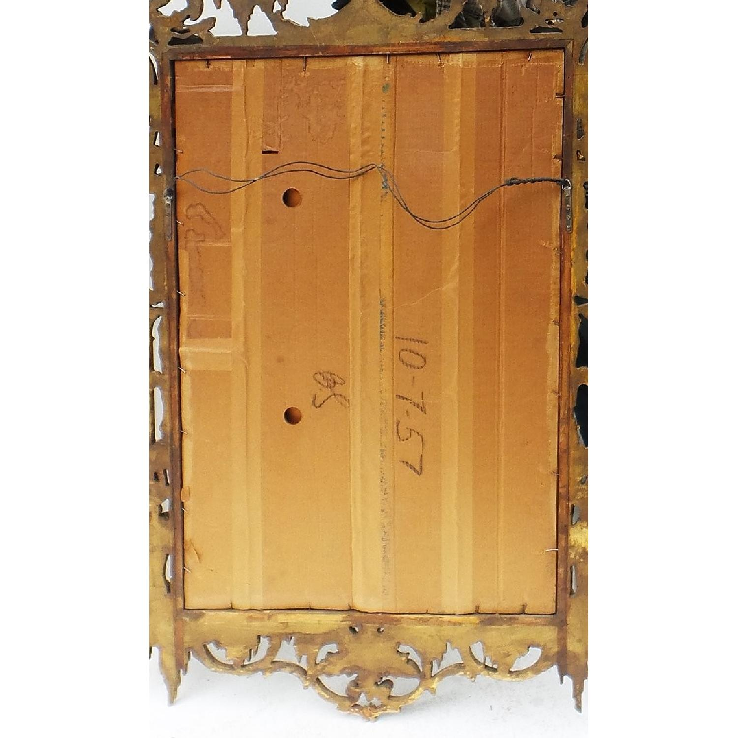Hand Carved Gilt Wood Mirror - image-6