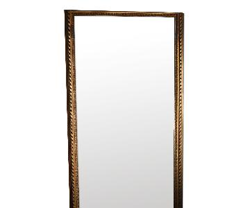 Large Wooden Old Mirror