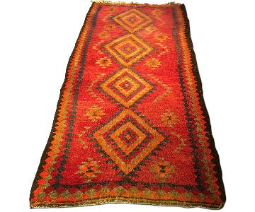 Colorful Antique Handmade Kurdish Kilim