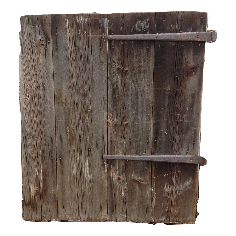 Vintage Salvaged Reclaimed Barn Wood Door - image-1