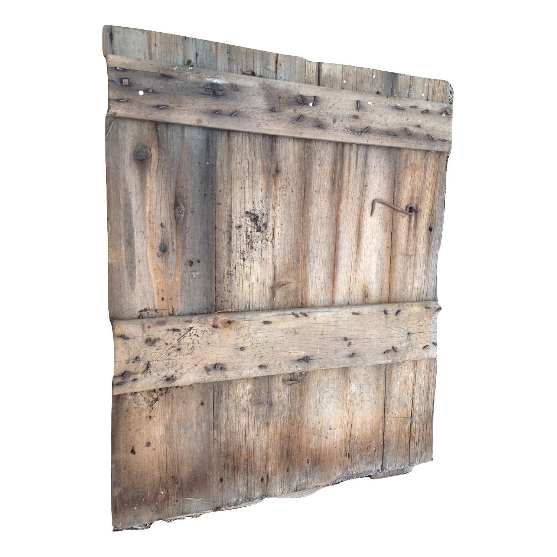Vintage Salvaged Reclaimed Barn Wood Door - image-2