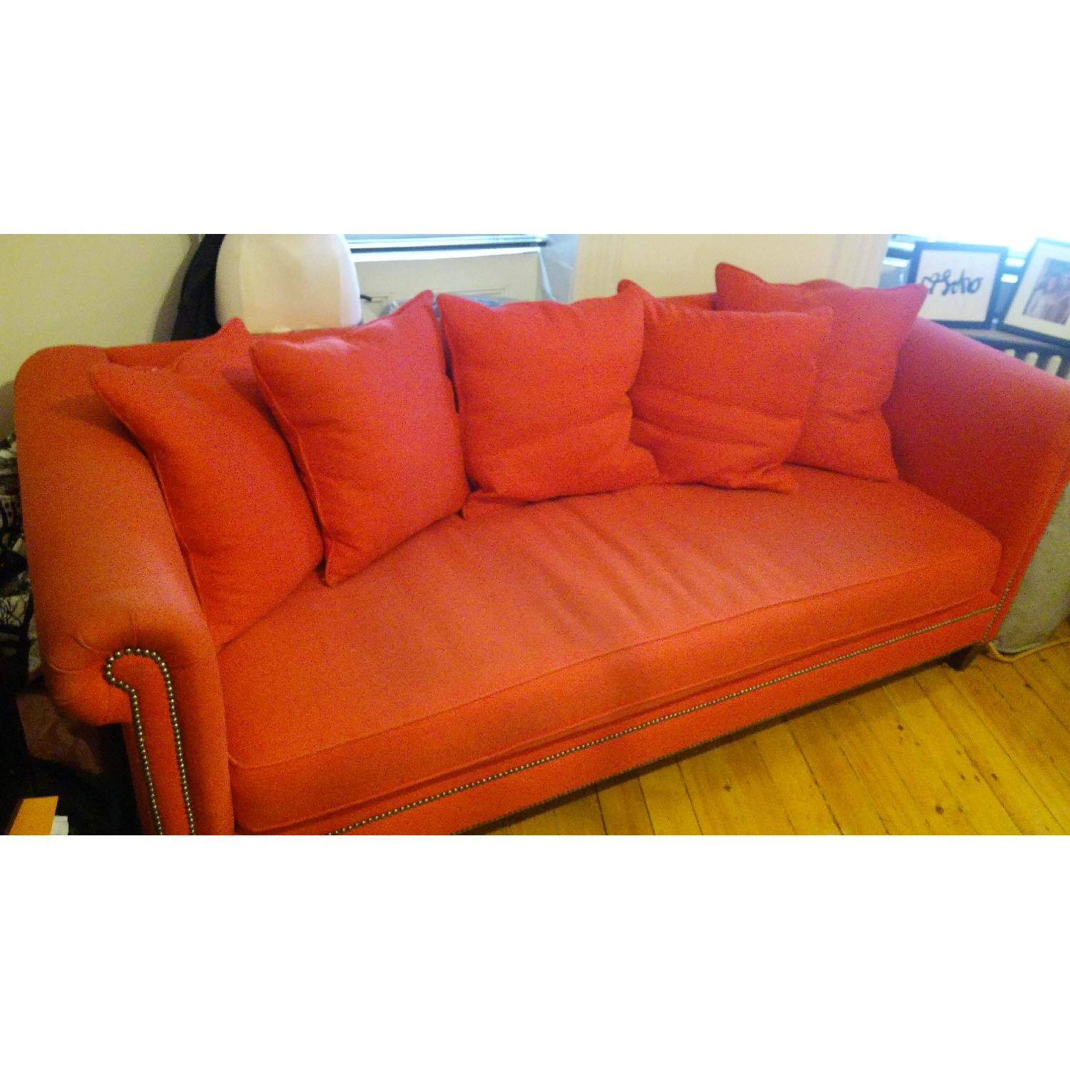 Crate & Barrel Red Couch - image-3