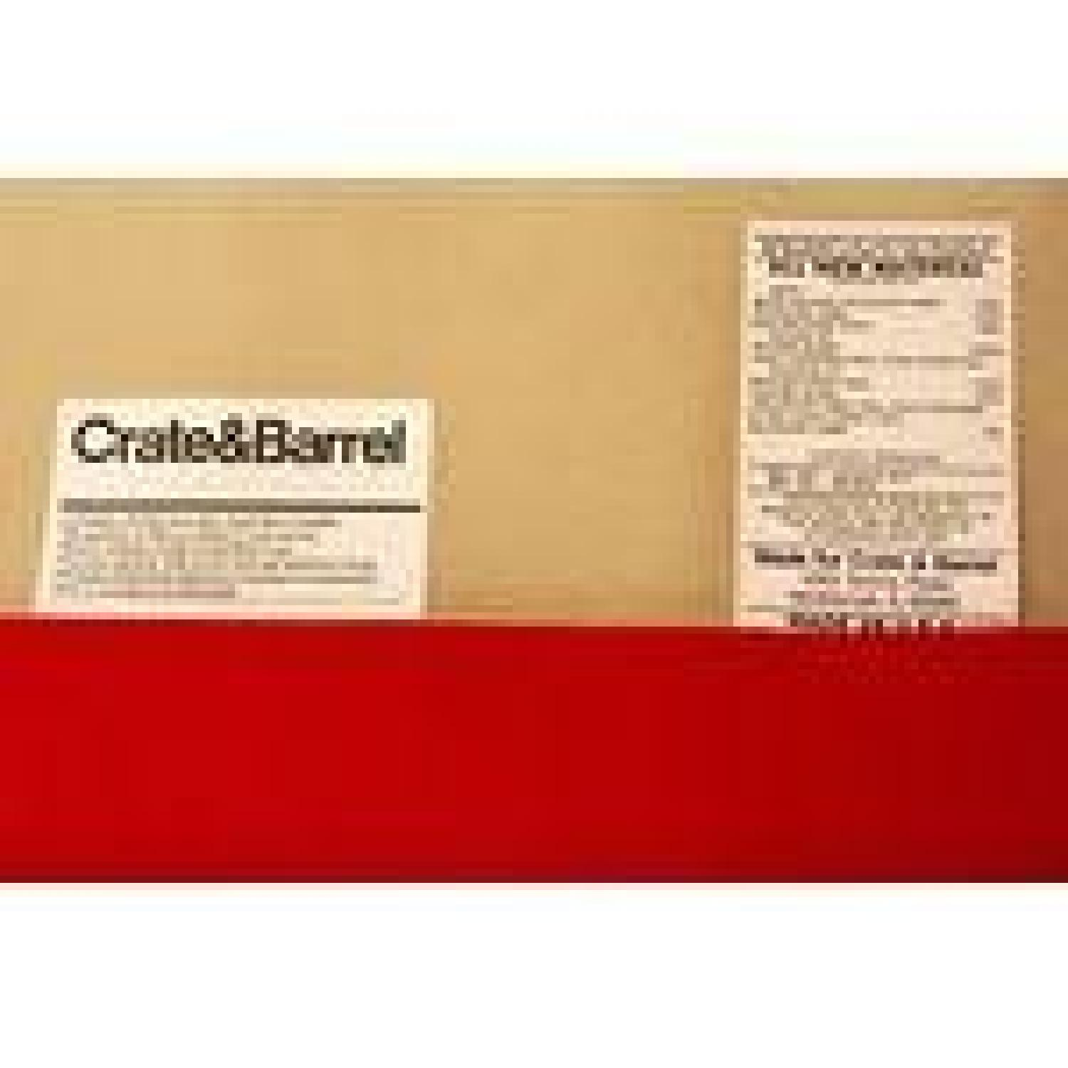 Crate & Barrel Red Couch - image-4