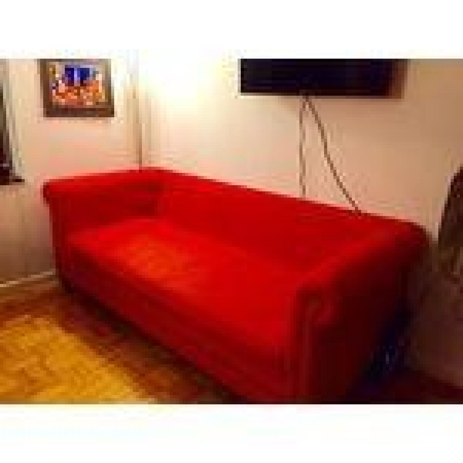 Crate & Barrel Red Couch - image-6