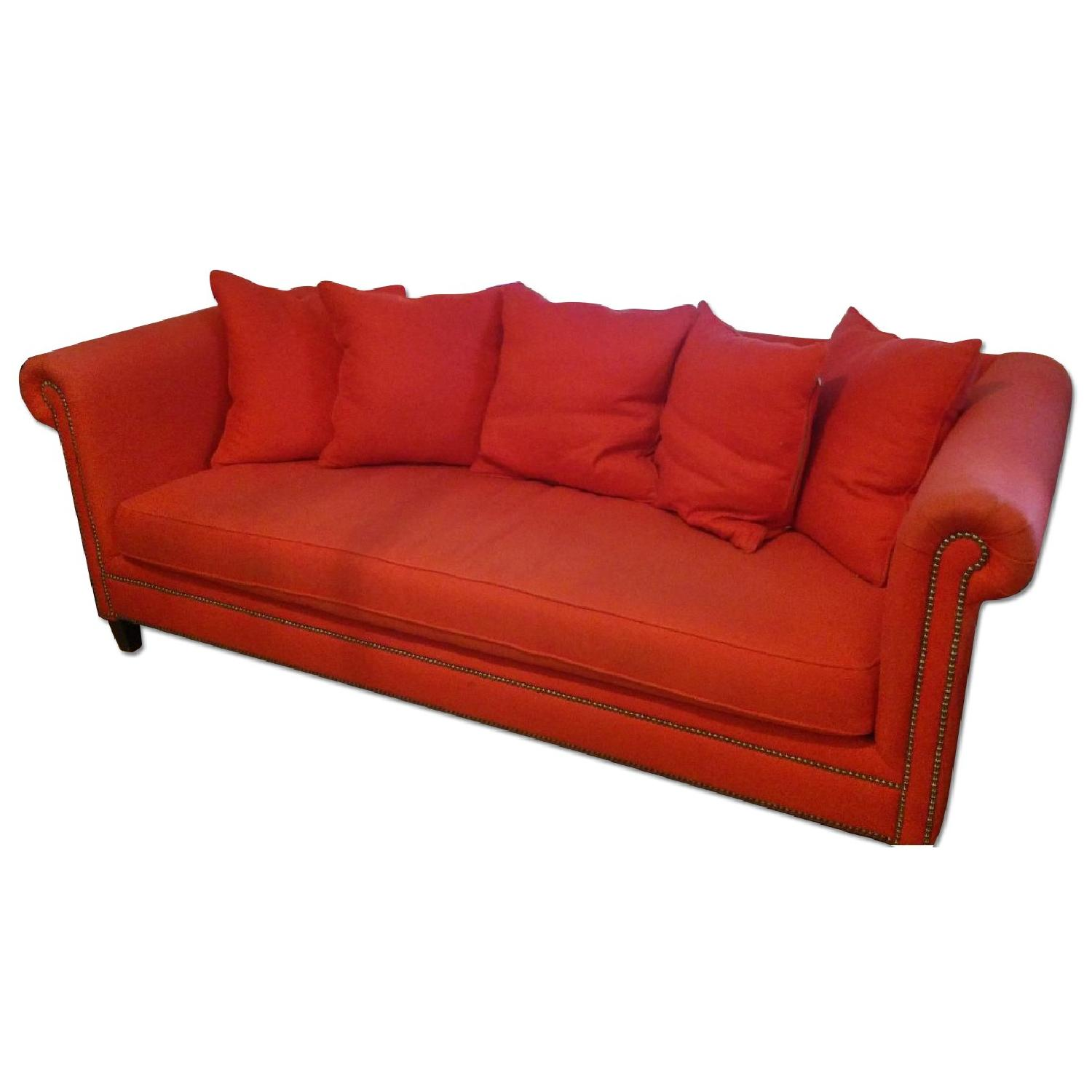 Crate & Barrel Red Couch - image-0