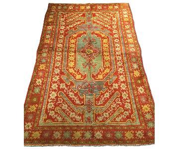 Antique Handmade Turkish Oushak Rug