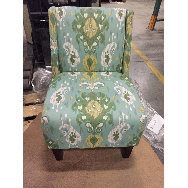 Verdant Ikat Slipper Chair - image-1