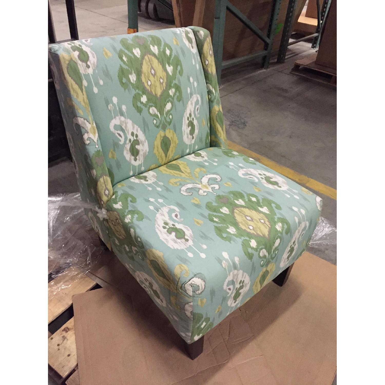 Verdant Ikat Slipper Chair - image-2