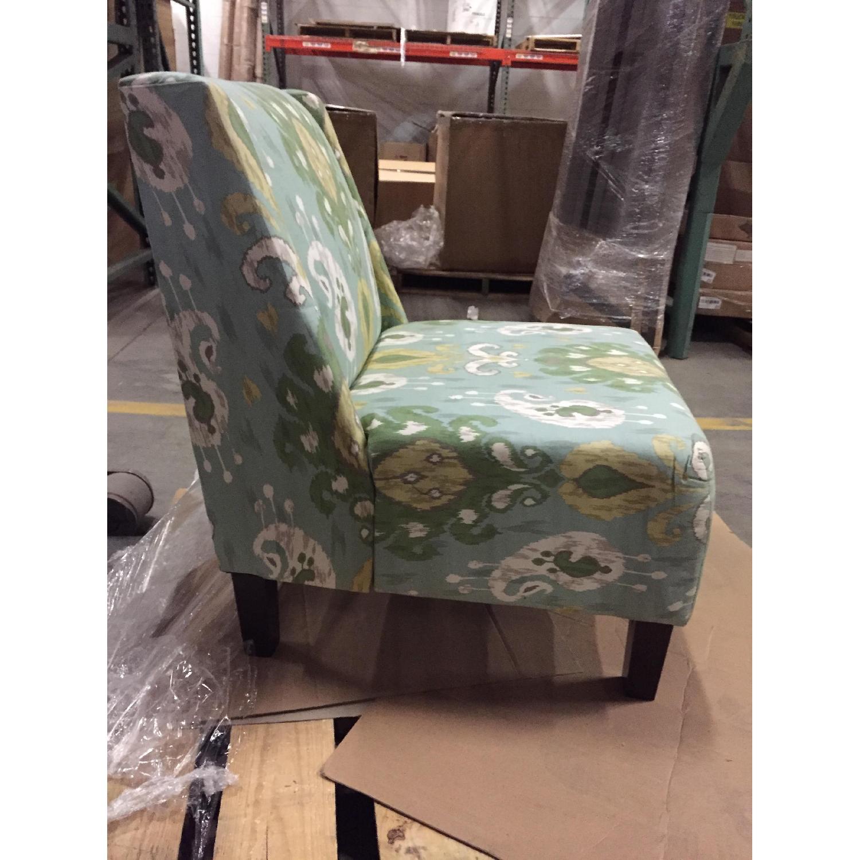 Verdant Ikat Slipper Chair - image-3