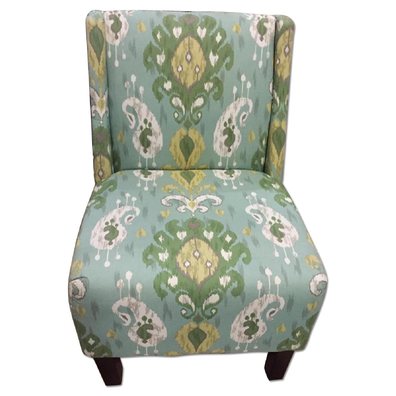 Verdant Ikat Slipper Chair - image-0