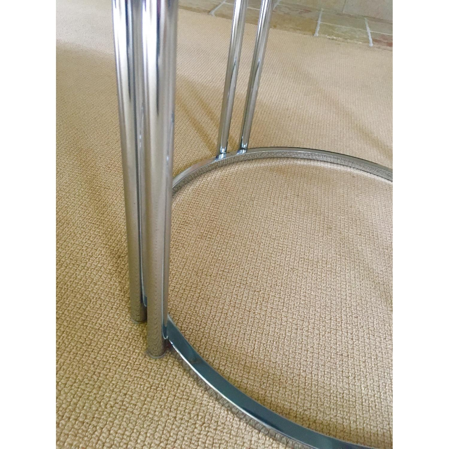 Vintage Chrome & Smoked Glass Dining/Occasional Table - image-8