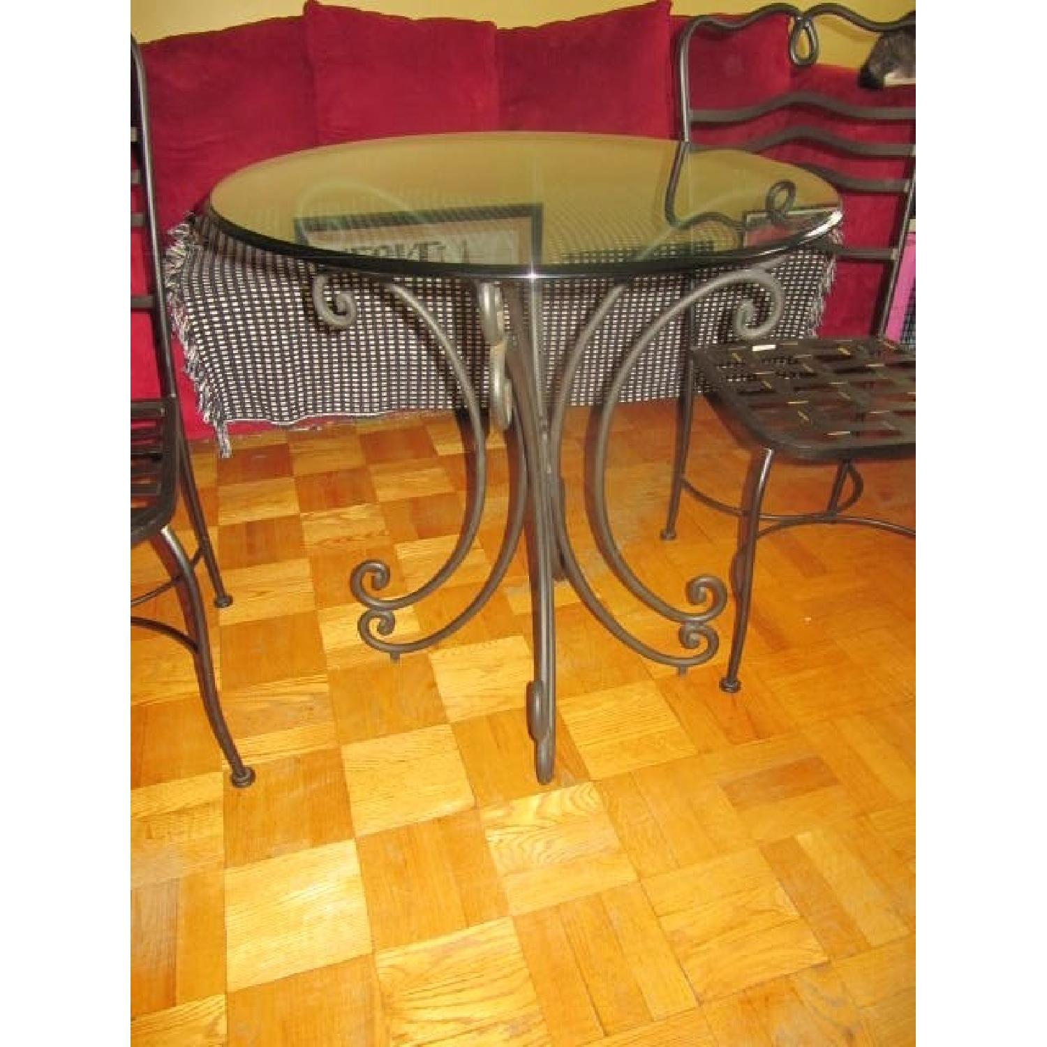 The Bombay Company Wrought Iron 3 Piece Bistro Dining Set - image-2