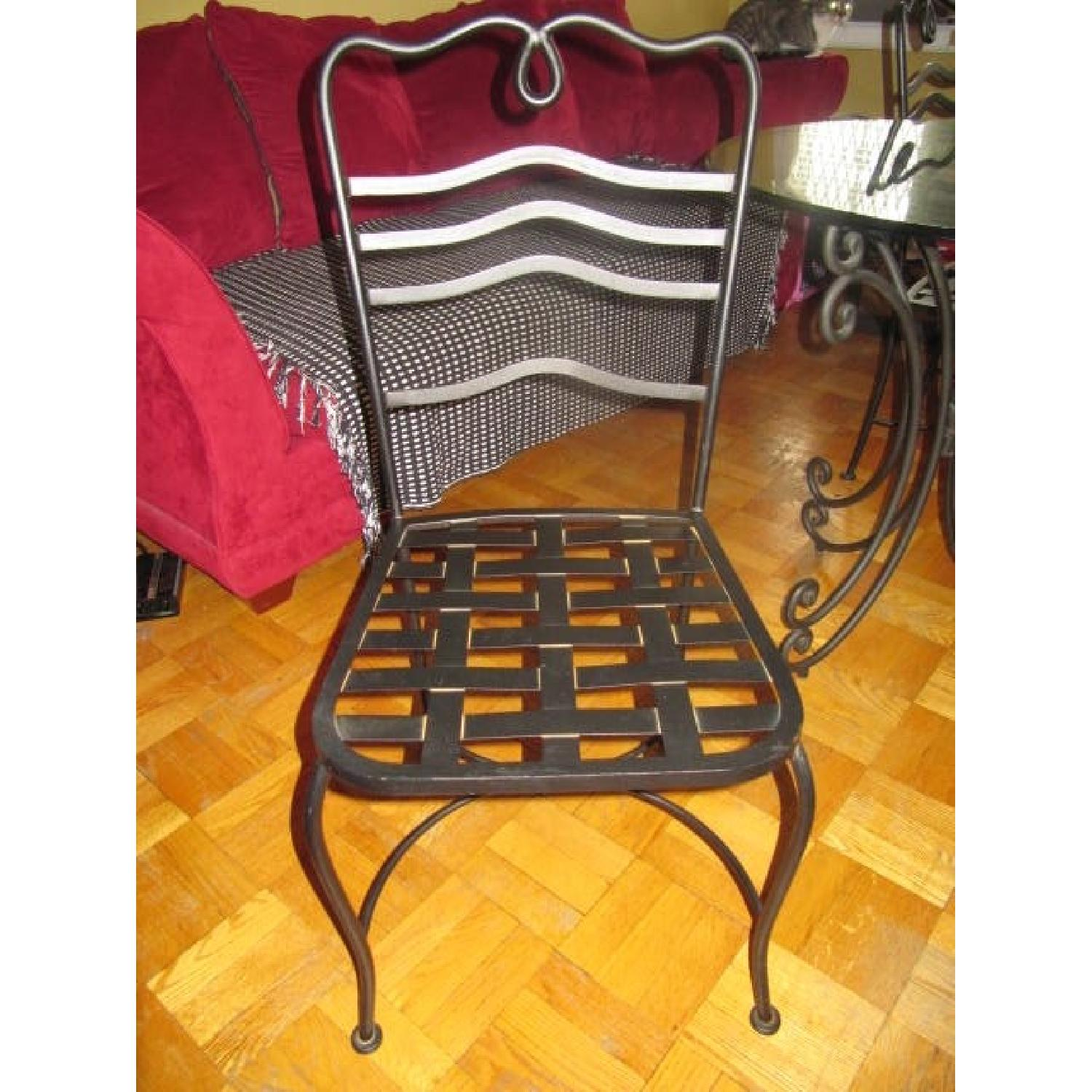 The Bombay Company Wrought Iron 3 Piece Bistro Dining Set - image-3