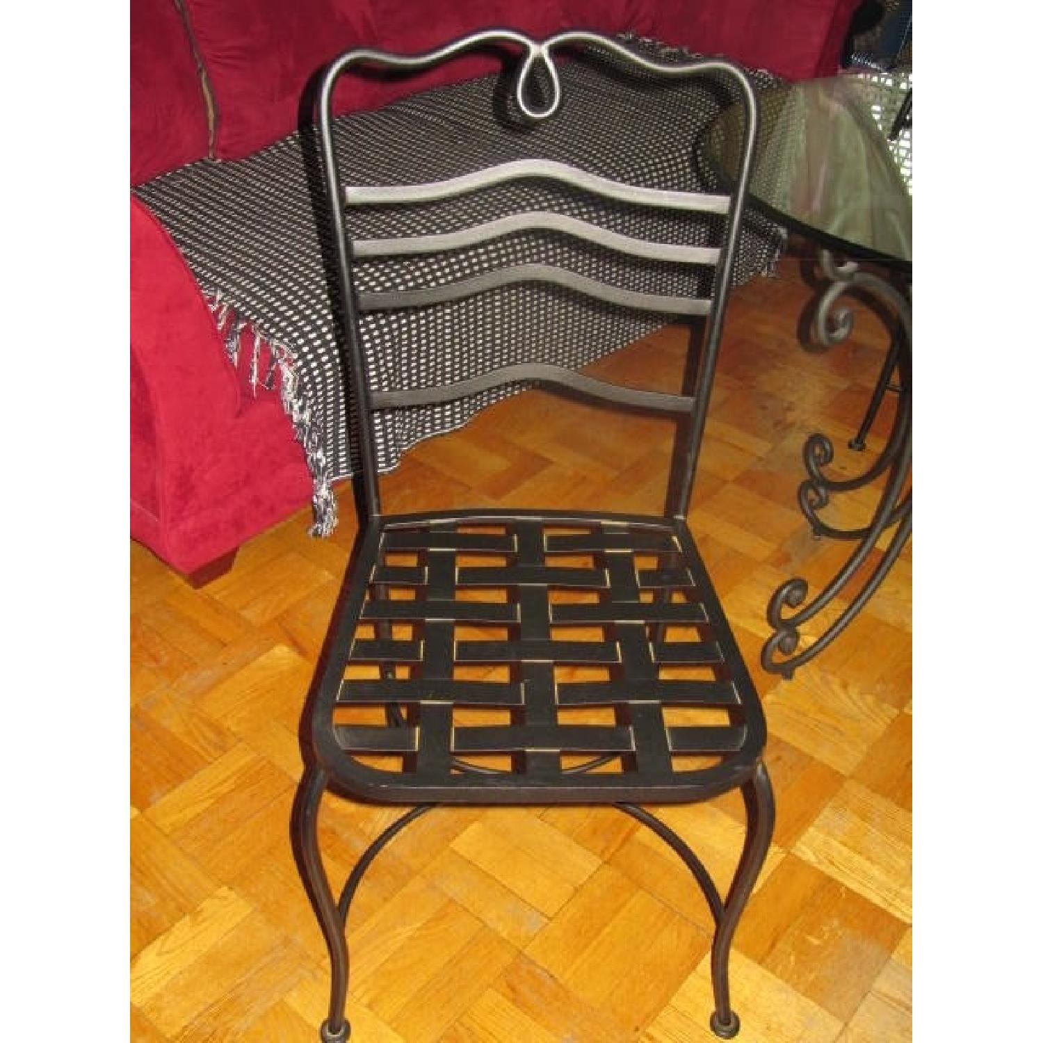 The Bombay Company Wrought Iron 3 Piece Bistro Dining Set - image-4