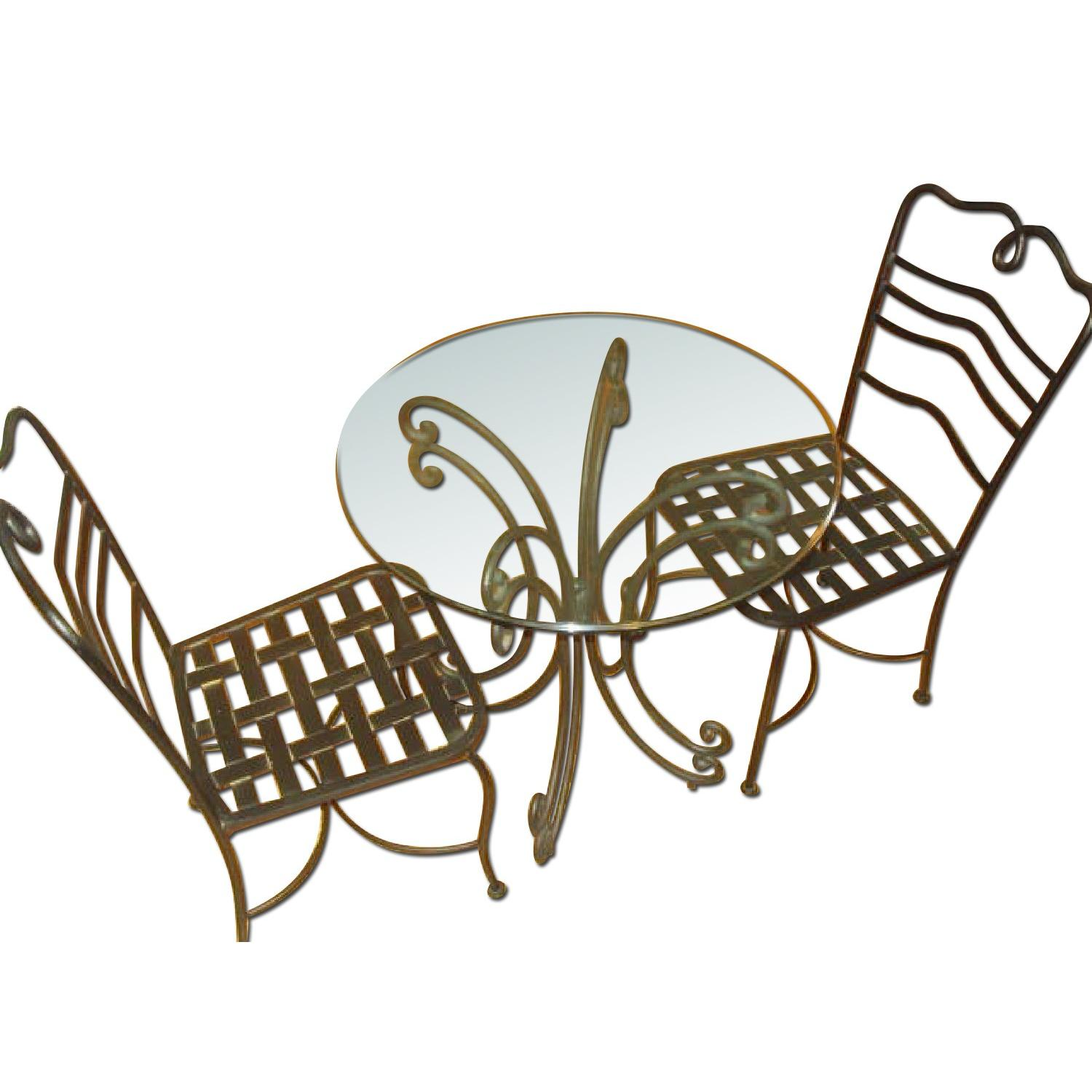 The Bombay Company Wrought Iron 3 Piece Bistro Dining Set - image-0