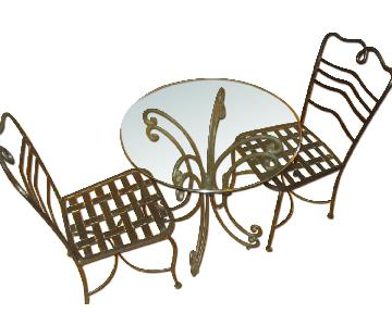 The Bombay Company Wrought Iron 3 Piece Bistro Dining Set