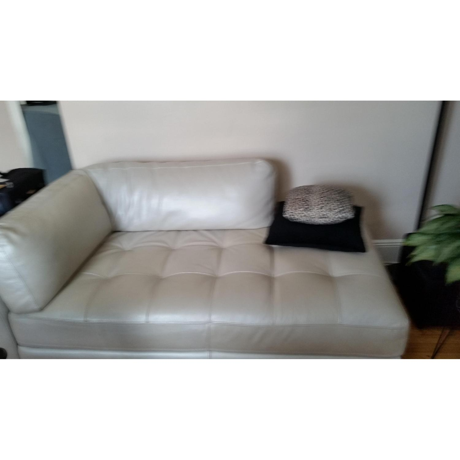 Chateau dAx Leather Sectional + Glass Table - image-2