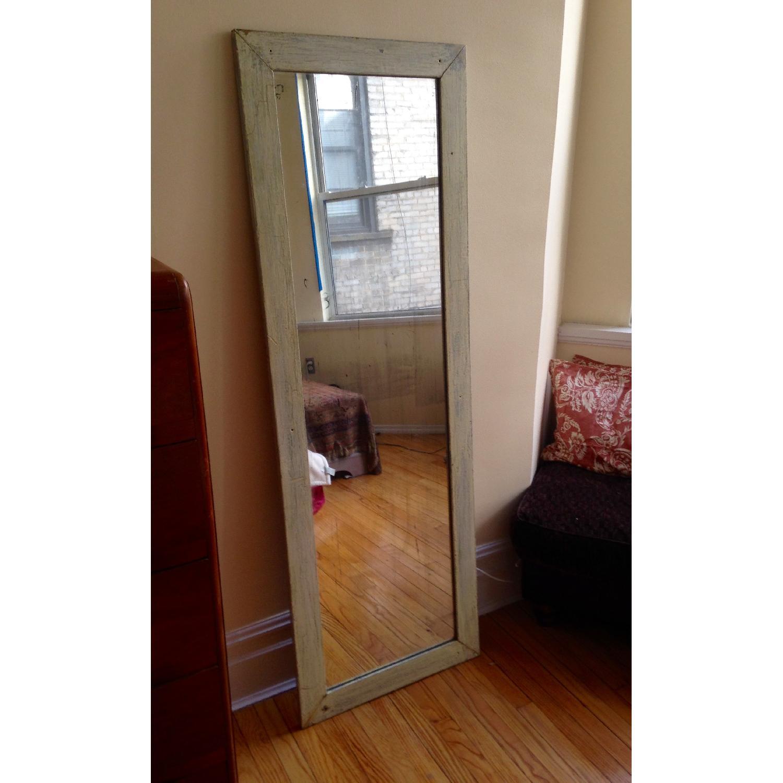 Antique Farmhouse Distressed Floor Mirror - image-10