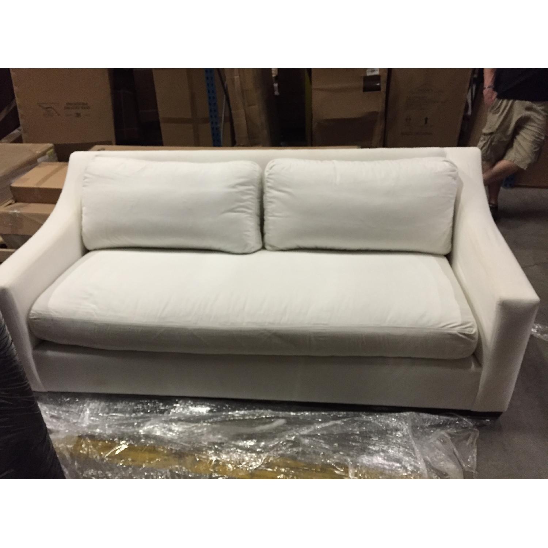 Pottery Barn White Sofa - image-1