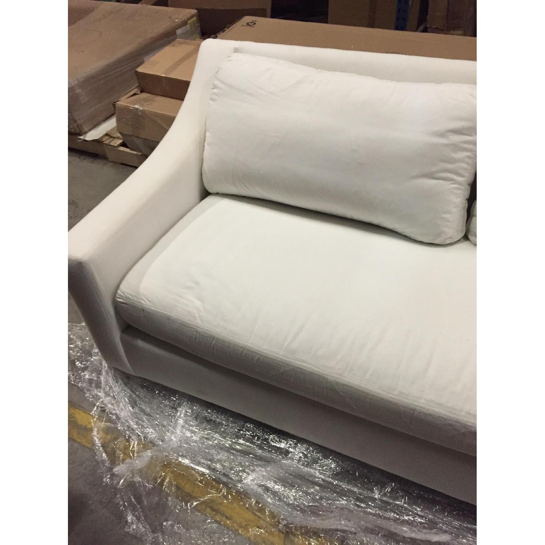 Pottery Barn White Sofa - image-2