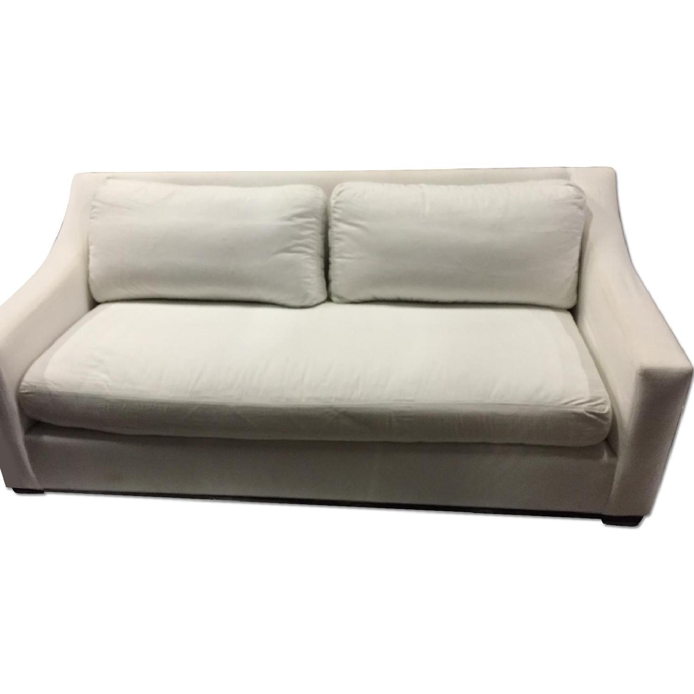 Pottery Barn White Sofa - image-0