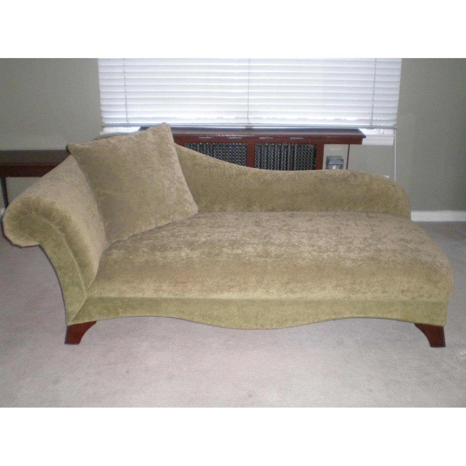 Chaise Lounge with Matching Pillow - image-1