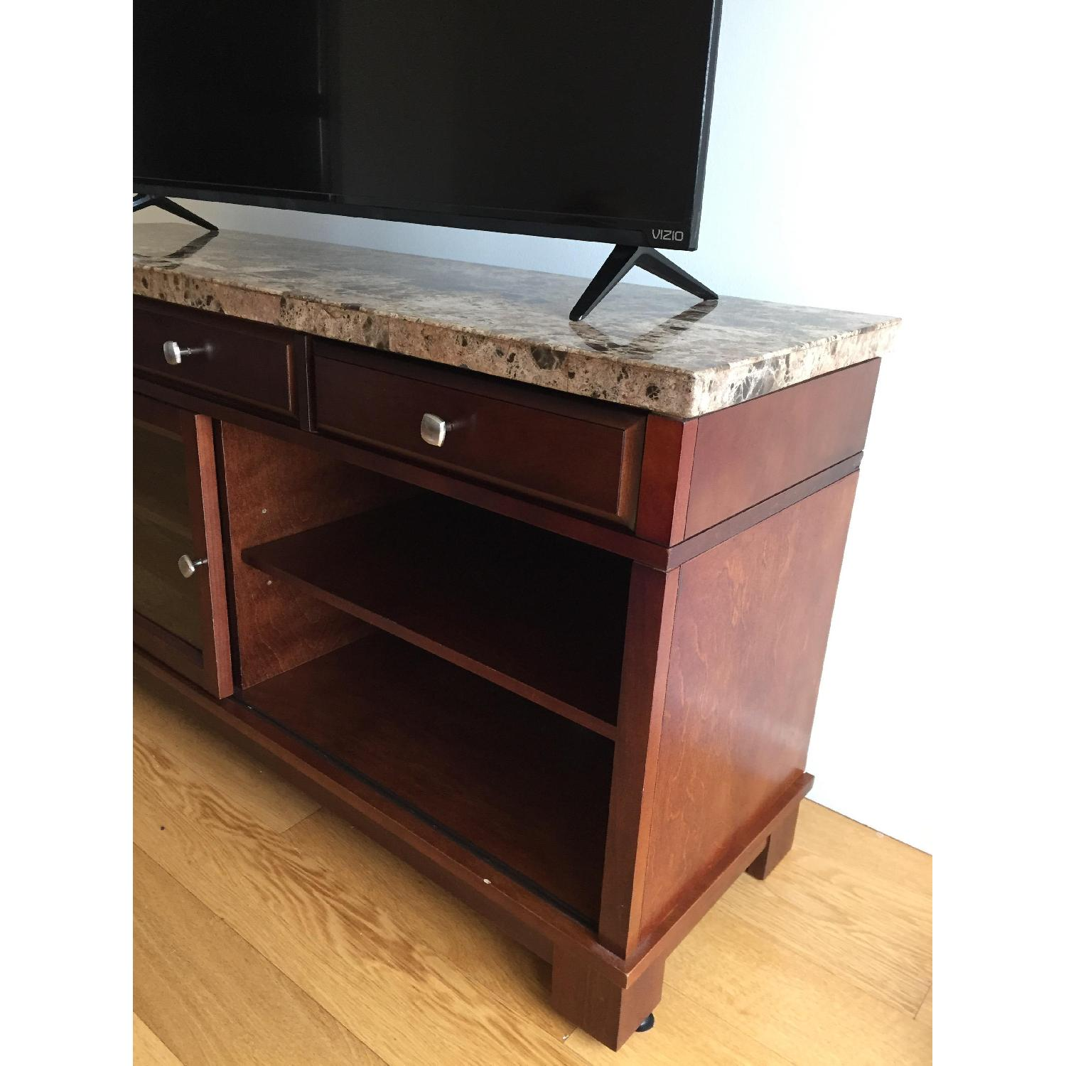 Bob's Brown Marble TV Console - image-2