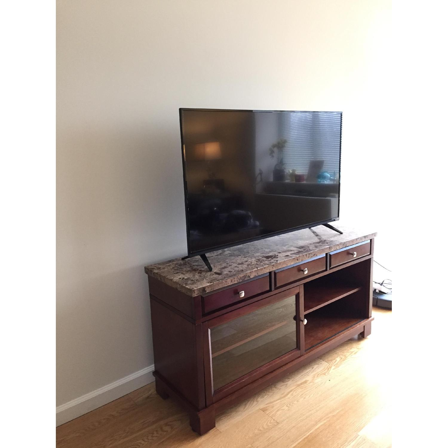 Bob's Brown Marble TV Console - image-5