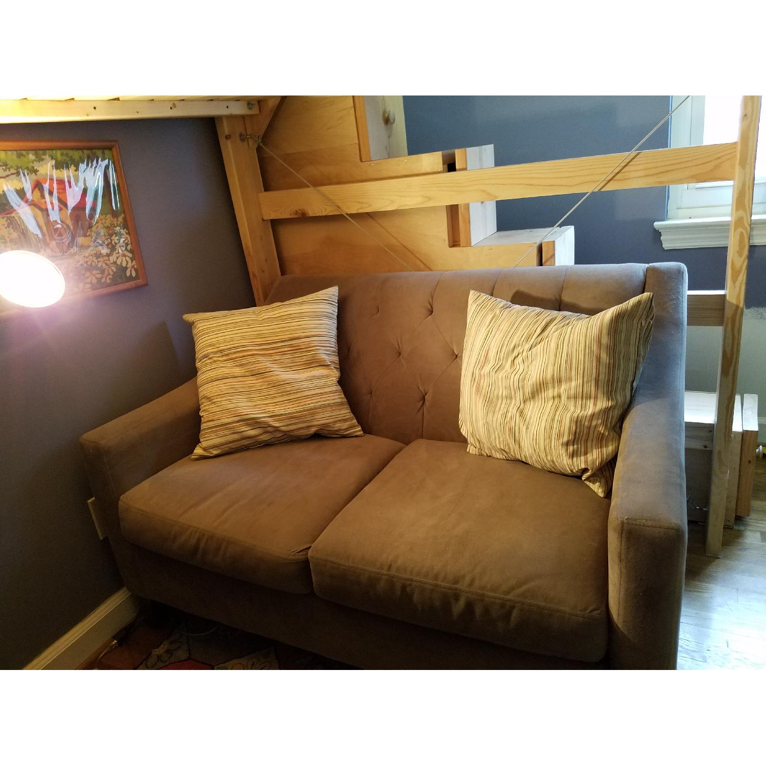 Custom-Made Wooden Full Loft Bed w/ Stairs - image-8