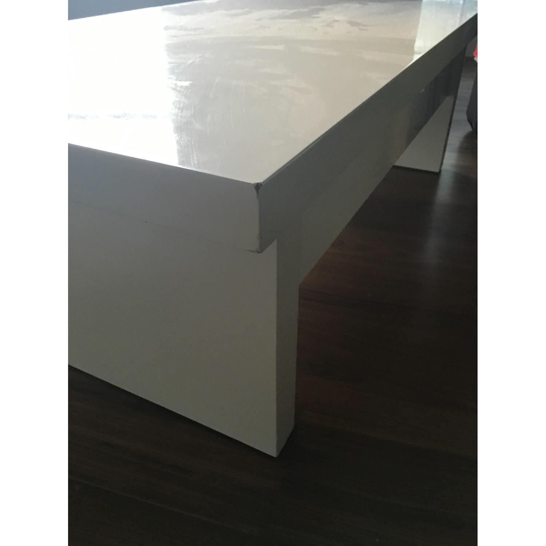 Lazzoni White Lacquer Storage Coffee Table - image-11