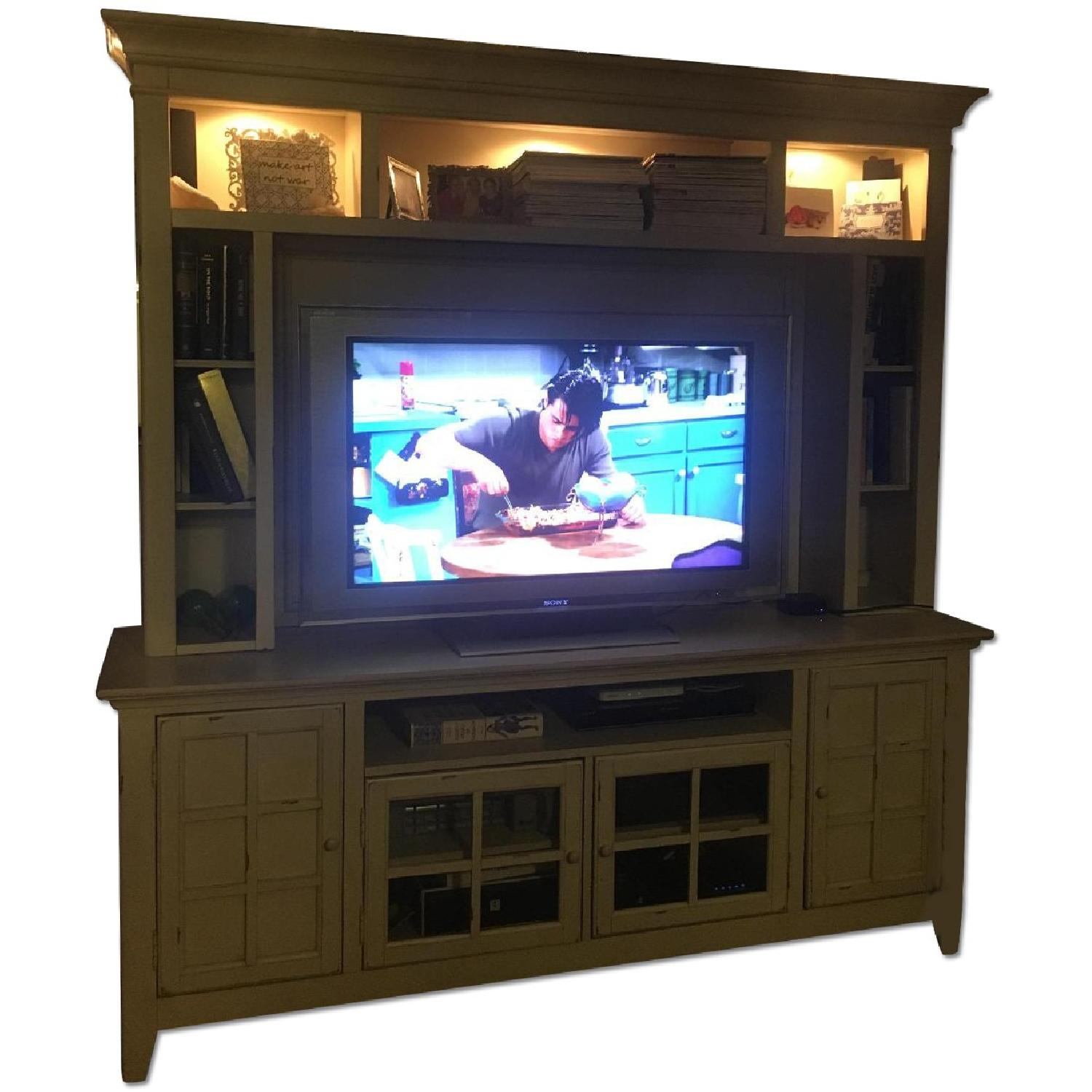 Liberty Furniture Distressed Off-White Entertainment Unit - image-0