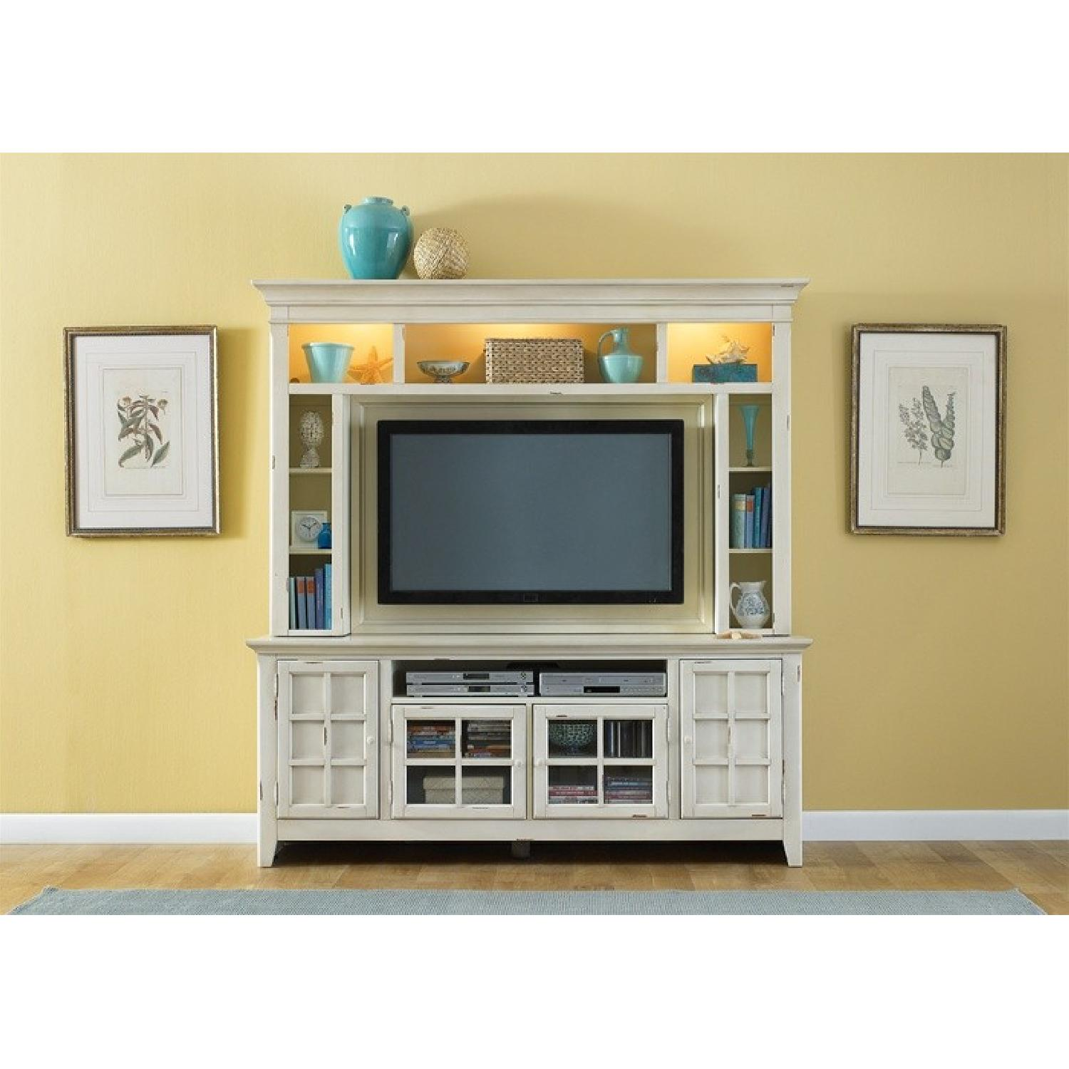 Liberty Furniture Distressed Off-White Entertainment Unit - image-6
