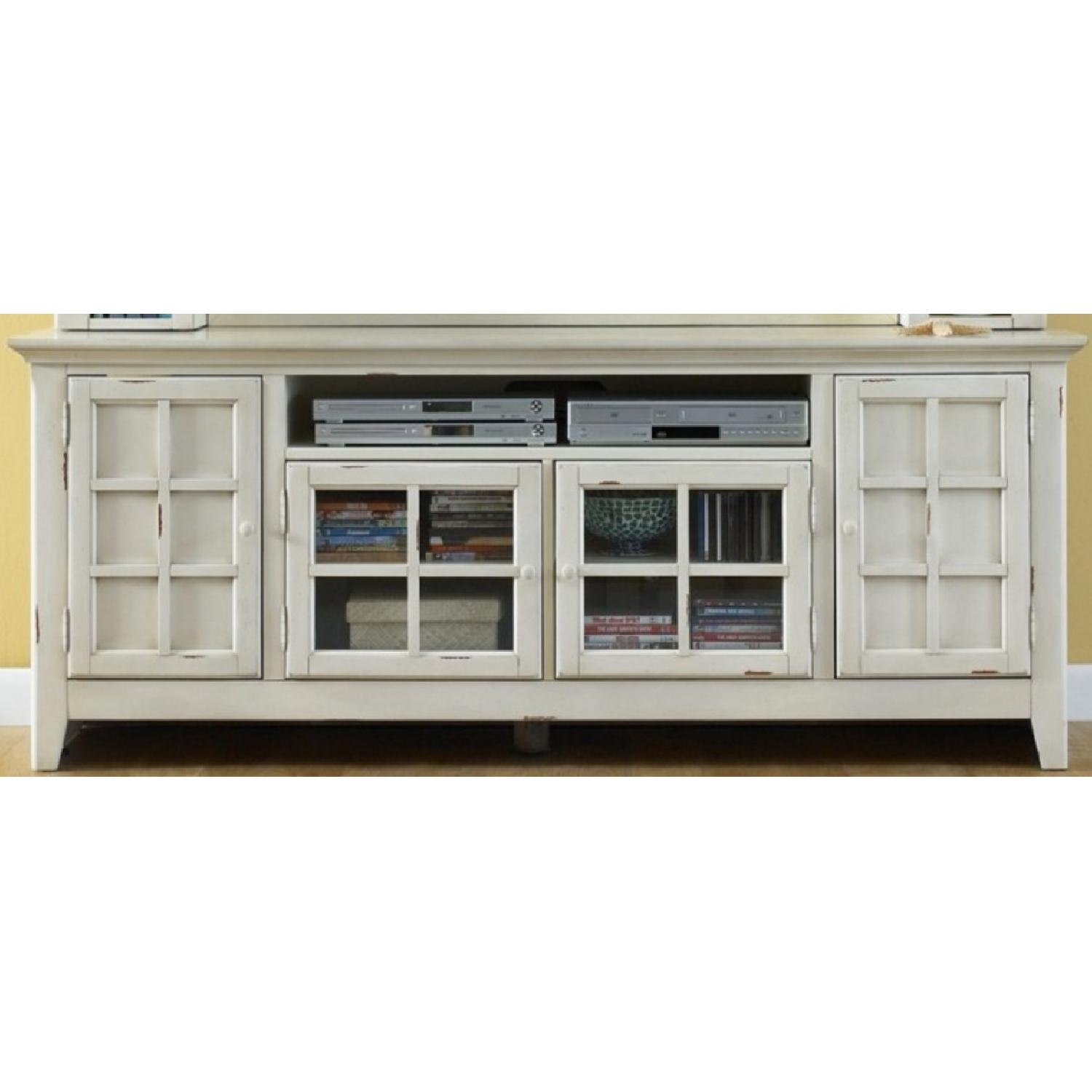 Liberty Furniture Distressed Off-White Entertainment Unit - image-7