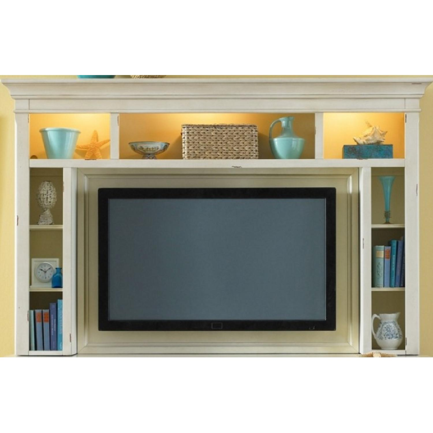 Liberty Furniture Distressed Off-White Entertainment Unit - image-8