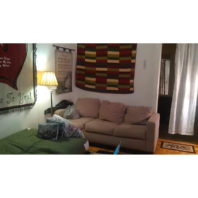 Light Brown Sofa + Armchair - image-5