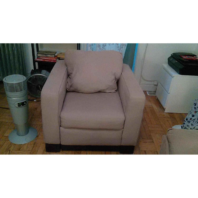 Light Brown Sofa + Armchair - image-7