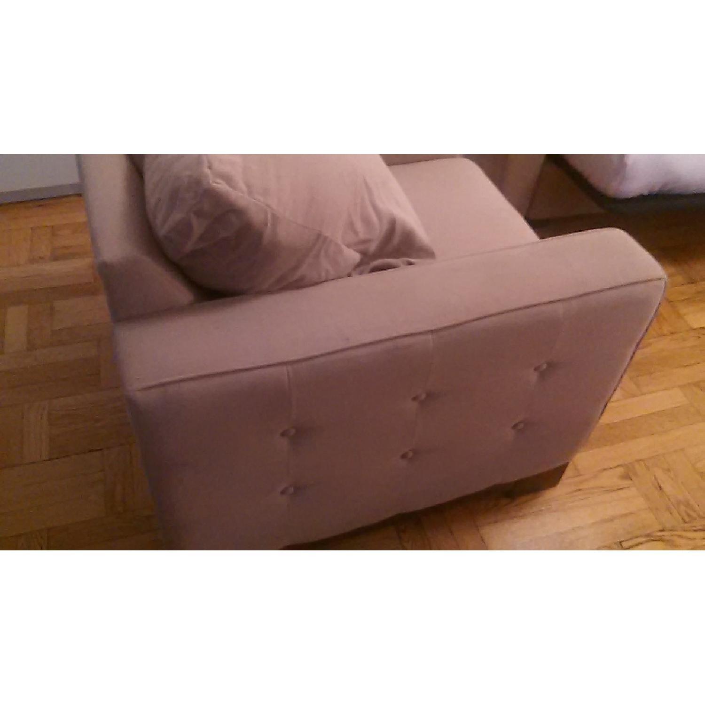 Light Brown Sofa + Armchair - image-9