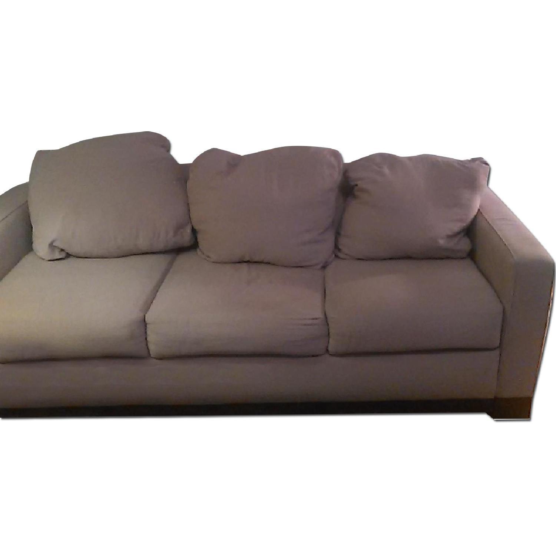 Light Brown Sofa + Armchair - image-0