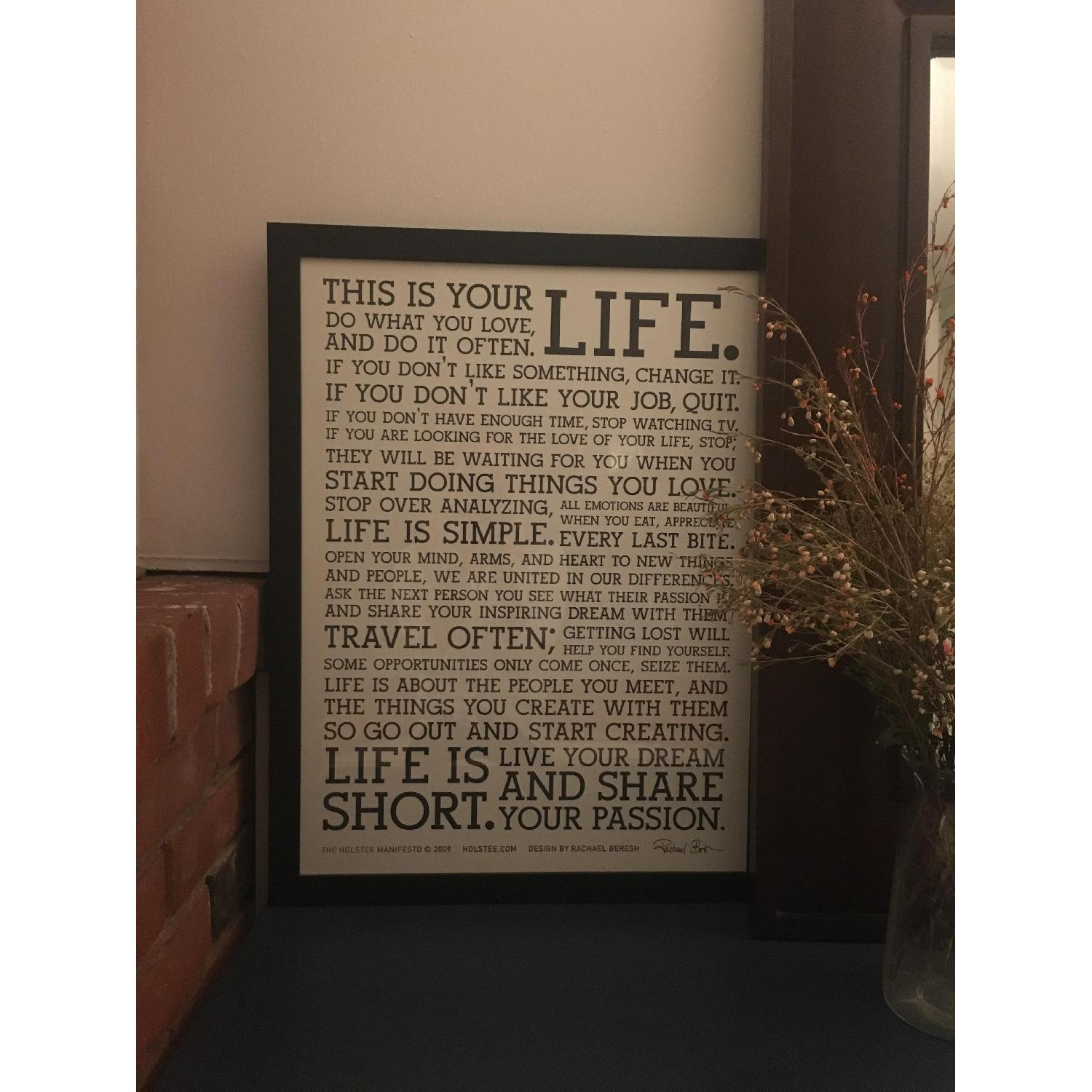 Framed Motivational Poster - This is Your Life - image-2