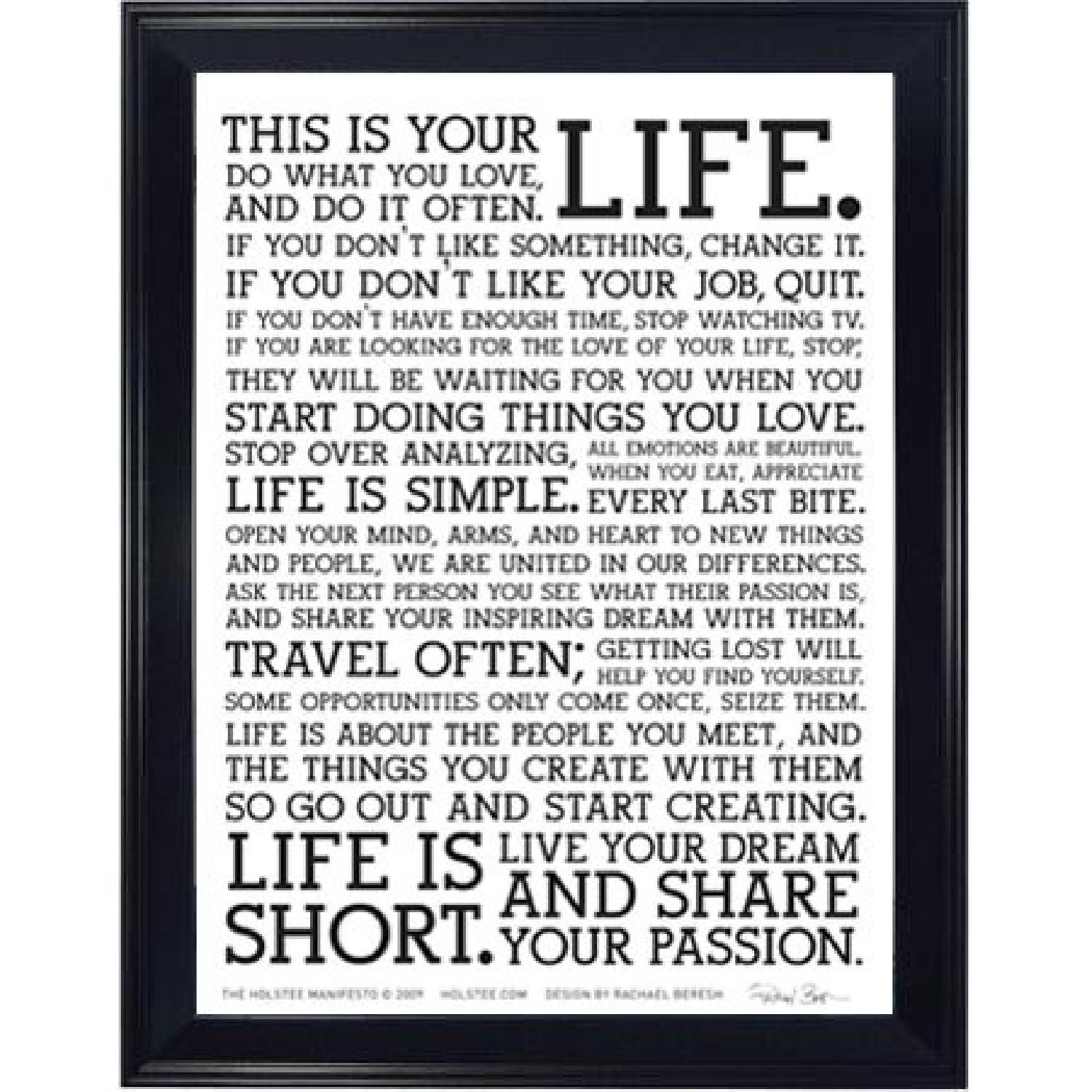 Framed Motivational Poster - This is Your Life - image-0