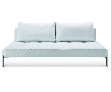 White Eco Leather Sofa Bed