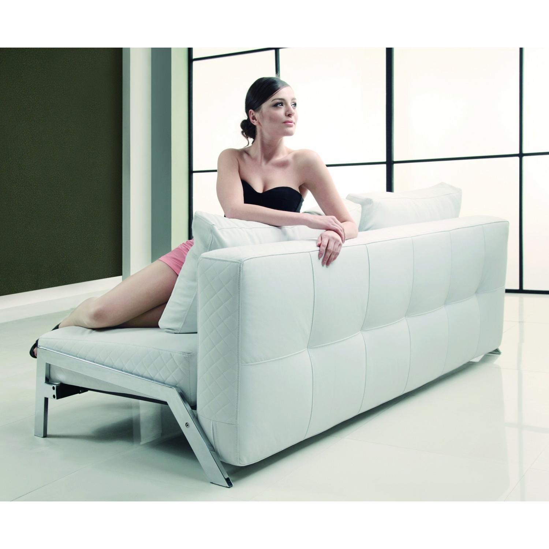 White Eco Leather Sofa Bed - image-3
