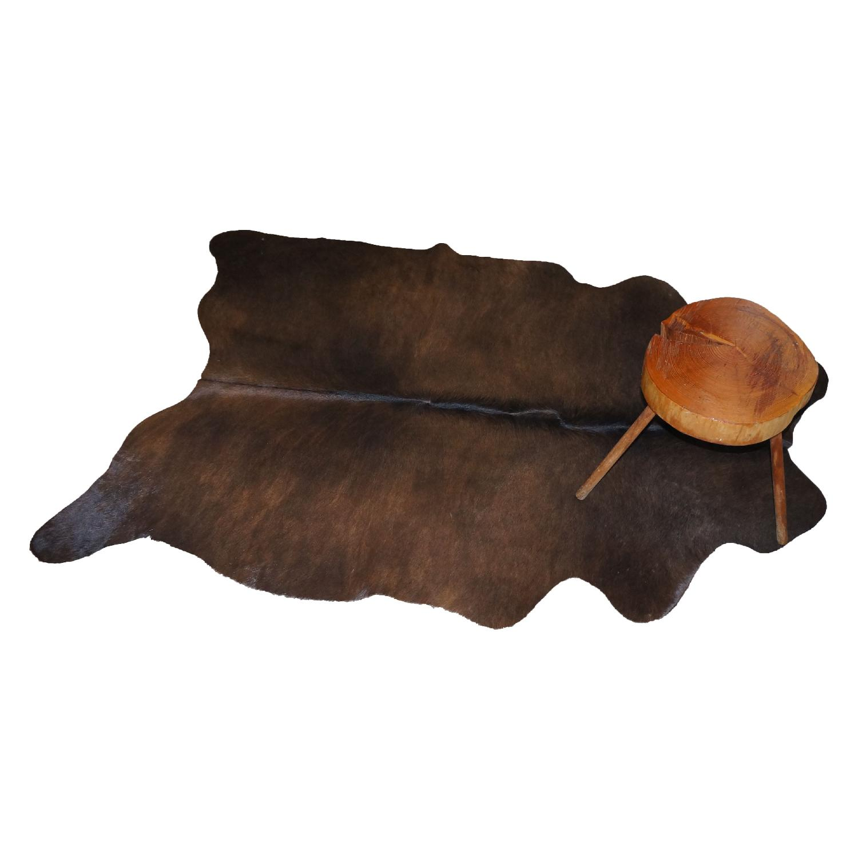 Brown Cowhide Rug with Twists - image-1