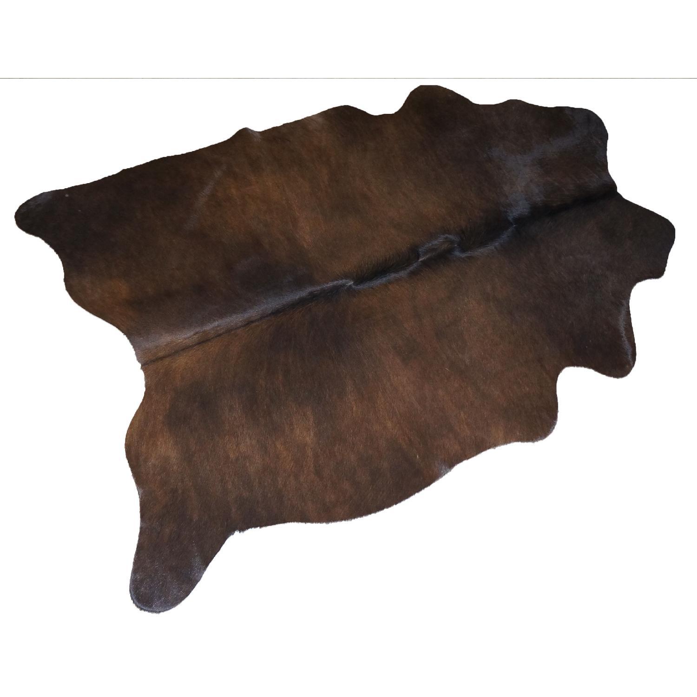 Brown Cowhide Rug with Twists - image-0