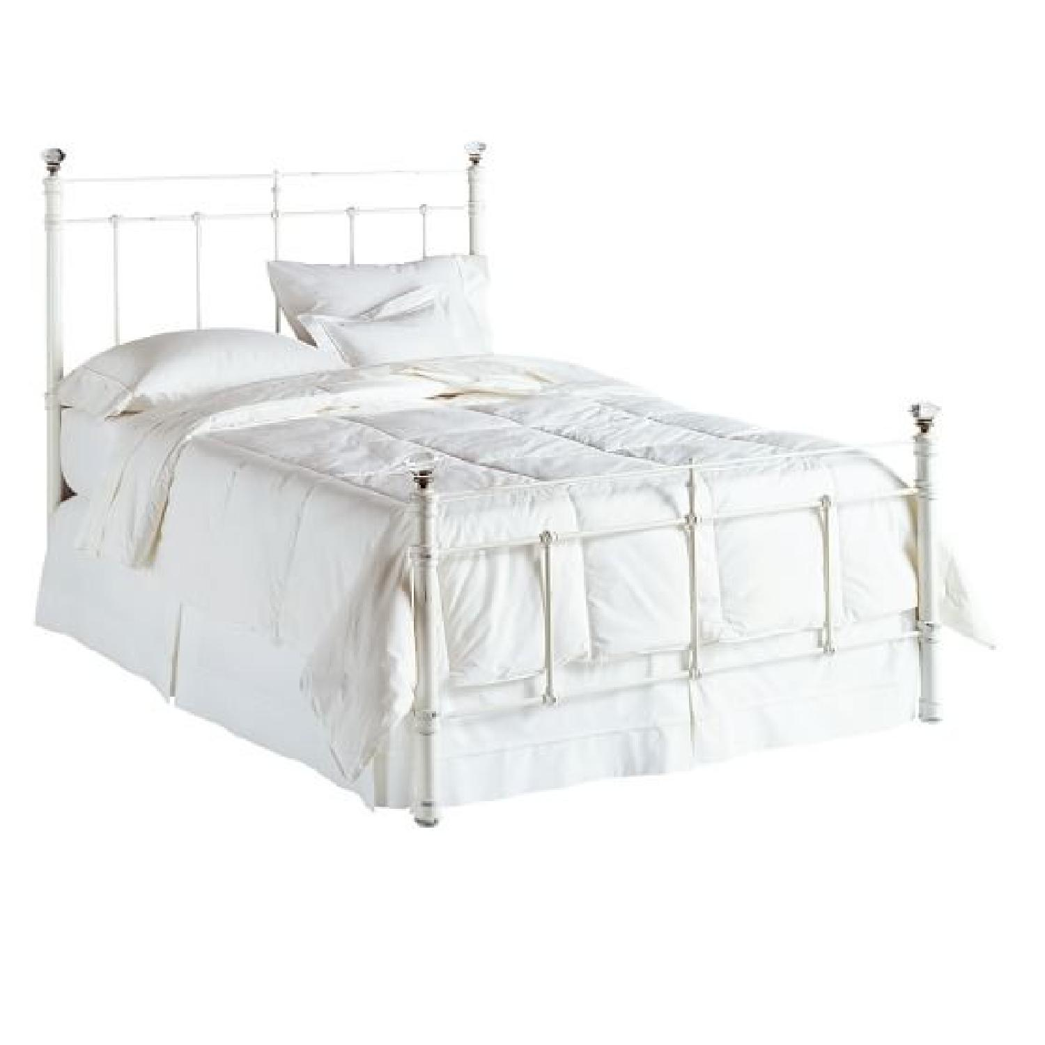 Pottery Barn Claudia Queen Bed in White - image-1