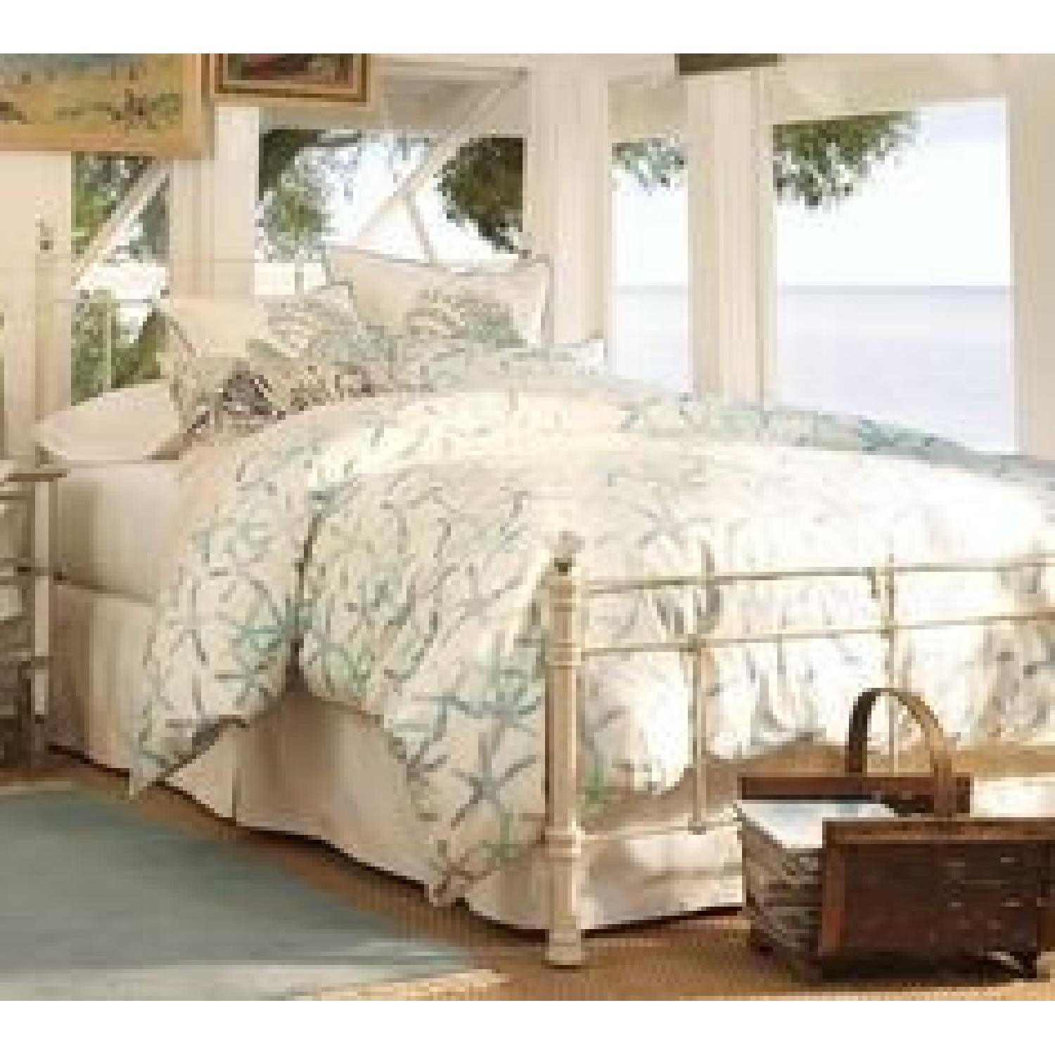 Pottery Barn Claudia Queen Bed in White - image-2