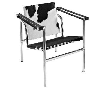 Black & White Cowhide Accent Chair